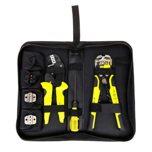 4 In 1 Professional Wire Crimper Ratcheting Terminal Crimping Pliers Tools Kit
