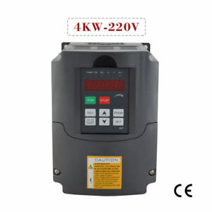Vfd Variable Frequency Drive Inverter Updated Hq For Cnc 4kw 220v 5hp New