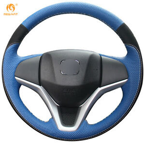 Leather Suede Steering Wheel Cover For Honda Fit 2014 2015 Fit City Jazz 0559