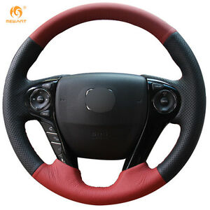 Leather Steering Wheel Cover For Honda Accord 9 Odyssey Crosstour 2013 16 0554