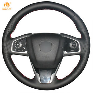 Diy Black Pu Leather Steering Wheel Cover For Honda Civic 10 2016 2017 0511