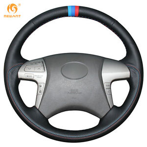 Genuine Leather Steering Wheel Cover For Toyota Highlander Camry 2007 2011 0469