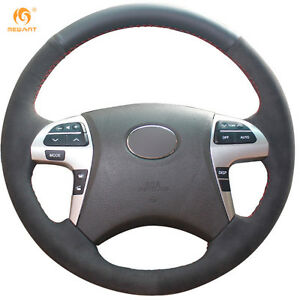 Leather Suede Steering Wheel Cover For Toyota Highlander Camry 2007 2011 0457