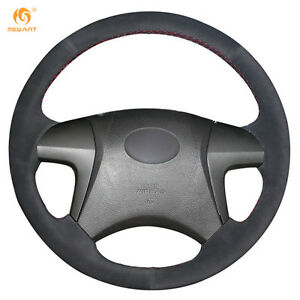 Black Suede Steering Wheel Cover For Toyota Highlander 2009 2014 Camry 0437