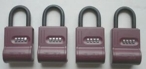 Shurlok Sl 300w Realtor Lock Box Burgundy Lot Of 4