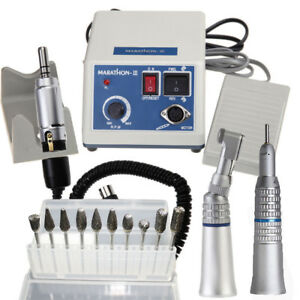 Dental Lab Marathon Handpiece 35k Rpm Electric Micromotor Polisher 10 Burs Tips