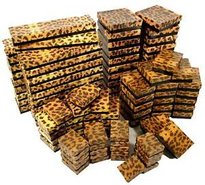 100 Assorted Leopard Print Cotton Filled Gift Boxes