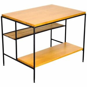 Paul Mccobb Winchendon Modern Iron And Maple End Table Mid Century Planner Group
