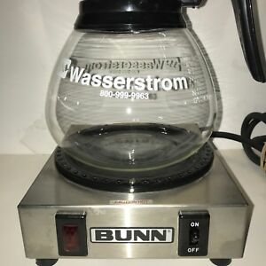 Bunn Wx1 Commercial Coffee Pot Single Burner Tested Working And Glass Coffee Pot