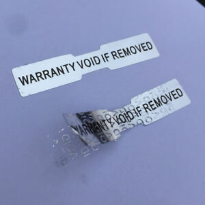 Hologram Stickers Labels Dogbone Warranty Void Labels Tamper Proof 50 Mm X 10 Mm