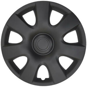 4 Pc Hub Caps For Toyota Camry Style Snap On Wheel Covers 15 Rims Matte Black