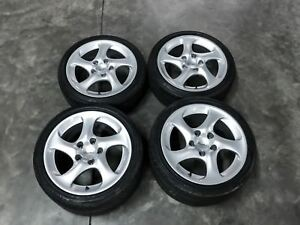 Used Oem Porsche 911 996 Turbo Hollow Spoke Wheels 18x8 18x11 99636213604