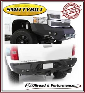 Smittybilt M1 Front 612821 Rear 614820 Bumpers For 11 14 Gm 2500 3500 Hd