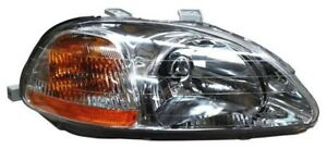 For 1996 1998 Honda Civic Sedan Coupe H B Rh Right Passenger Headlamp 96 97 98