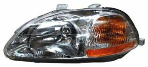 For 1996 1998 Honda Civic Sedan Coupe H B Lh Left Driverheadlamp Headlight 96 98