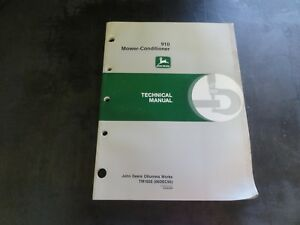 John Deere 910 Mower Conditioner Technical Manual Tm1620