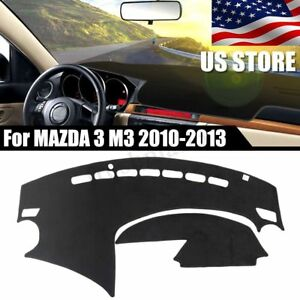 Usa Dashboard Cover Dashmat Dash Sun Mat Carpet Board Pad For Mazda 3 2010 2013