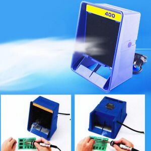220v Soldering Smoke Absorber Remover Fume Extractor Air Fan With Sponge Filter