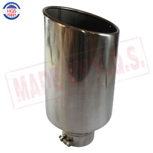 Chrome Universal Stainless Steel Diesel Exhaust Tip 4 Inlet 8 Outlet 18 Long