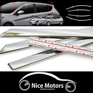 Chrome Window Garnish Ssangcarful For Hyundai Accent Solaris 5dr 2011 2016