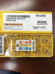 10pcs Mitsubishi Dnmg150408 ma Us735 Dnmg432ma Carbide Inserts New