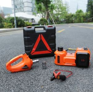 3 Functions Electric Hydraulic Jack Impact Wrench And Air Compressor