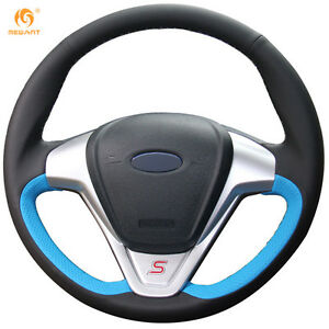 Black Blue Leather Wheel Cover For Ford Fiesta 2008 2013 Ecosport 2013 16 0649