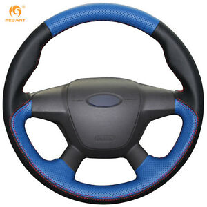 Black Blue Leather Wheel Cover For Ford Focus 3 2012 14 Kuga 2013 16 0643