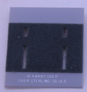 75ct Lot 18k Sterling Silver Plastic Holder Hanging Earring Display Card