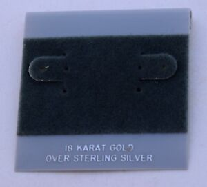 50ct Lot 18k Sterling Silver Plastic Holder Hanging Earring Display Card