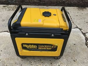 Used Robin Subaru Rg4300is 9hp Quiet Inverter Generator 4300w Only 114 Hours