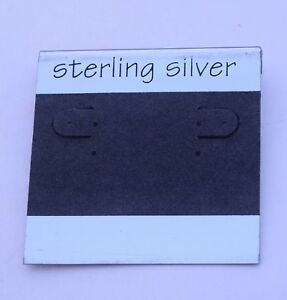 50ct Lot Sterling Silver Grey Plastic Holder Hanging Earring Display Card