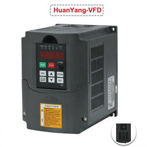 Huan Yang Brand Vfd Variable Frequency Drive Inverter Cnc 1 5kw 110v New Hq