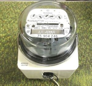New Westinghouse Single stator Watthour Meter Pn 5556c75g06 Whs 3 700