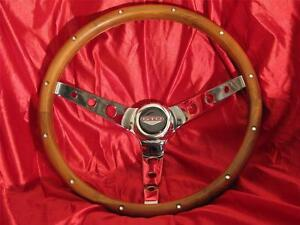 64 65 66 67 68 69 70 71 72 73 74 Pontiac Gto Wood Steering Wheel Judge New