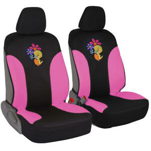 100 Waterproof Angry Tweety Bird With Attitude Front Car Seat Covers Pair