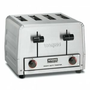 Waring Wct800 Commercial Heavy Duty 4 Slot Toaster 120v 1 Year Warranty 2200 Was