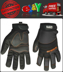 Cold Weather Pro Glove Large Water Resistant Nylon W Thinsulate Rubberized Palm