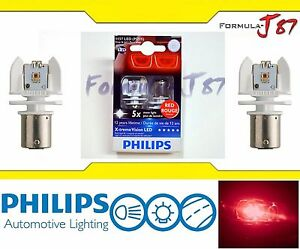 Ob Philips X treme Vision Led Light Bulb 1157 Rouge Red Tail Side Marker Stop