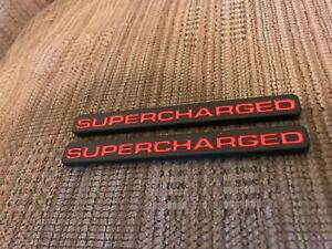 Supercharged Corvette Mustang Roush Saleen Vortec Challenger Emblems Black Red