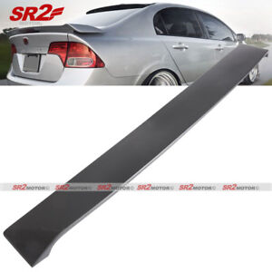 Abs Black Rear Roof Spoiler Wing V2 Window Visor Fits 06 11 Honda Civic Sedan