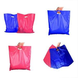 100 Shopping Merchandise Bags Retail Plastic 16x18 Mil 50 Pink Blue Large With