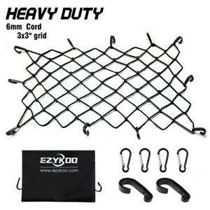 Cargo Net Car Suv Roof Rack Bungee Cord Tie down Net Hook Boat Elastic 47 x36