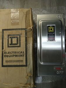 New Square D Hu361ds 30a 60v Nema 4 Stainless Steel Safety Switch Disconnect Nib