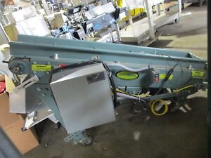 Hytrol 9 Inch Cleated Incline Belt Conveyor W Warner Electric Control Pc