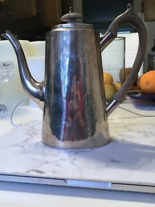 Antique Sterling Silver English London Charles Stuart Harris Teapot Coffee