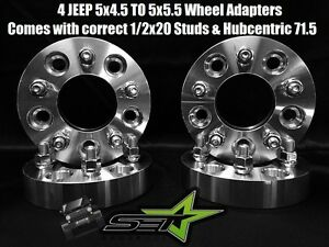 5x4 5 To 5x5 5 Wheel Adapters 1 25 Inch 1 2 20 Studs 71 5 Hubcentric Jeep Bore
