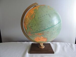 Replogle 12 World Premier Series Light Up Globe Leroy Tolman Ussr Zaire