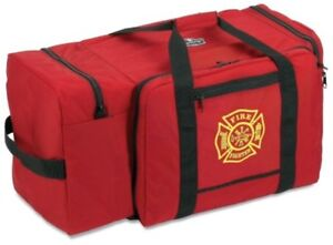 Large Firefighter Rescue Bag Turnout Fire Gear Pack Helmet Pocket Shoulder Strap
