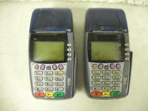 Verifone 3740 Internet T ip Pos Credit Card Terminal Reader Lot Of 2 Parts